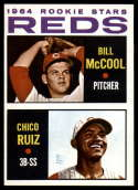 1964 Topps #356 Bill McCool/Chico Ruiz NM-MT Rookie Card Reds Reds Rookies