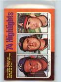 1975 Topps #7 Steve Busby/Dick Bosman/Nolan Ryan EX++ 60/40 HL