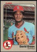 Baseball MLB 1983 Fleer #6 David Green NM Near Mint Rookie Card Cardinals
