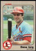 Baseball MLB 1983 Fleer #10 Dane Iorg NM-MT Cardinals