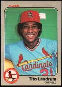Baseball MLB 1983 Fleer #13 Tito Landrum NM-MT Cardinals