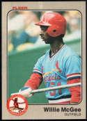 Baseball MLB 1983 Fleer #15 Willie McGee NM-MT Rookie Card Cardinals