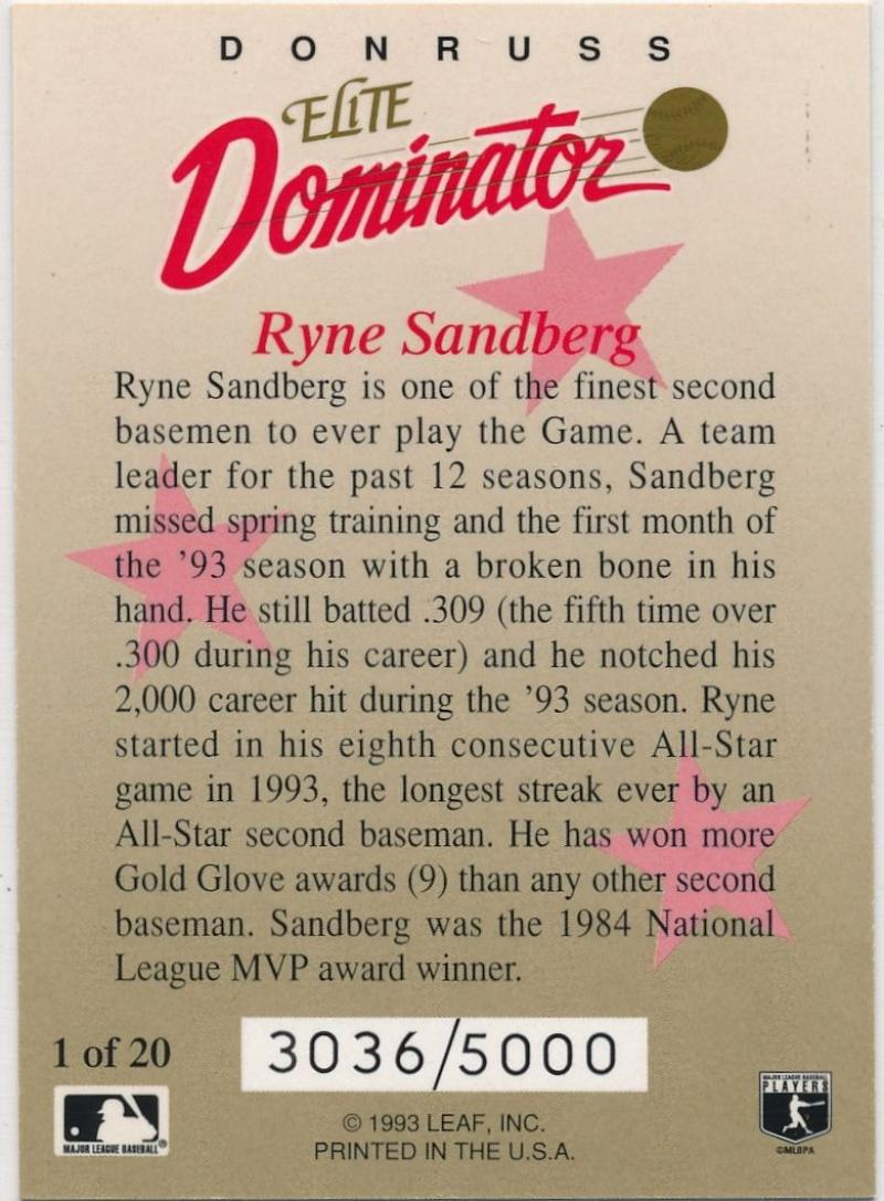 1993 Donruss  Elite Dominators