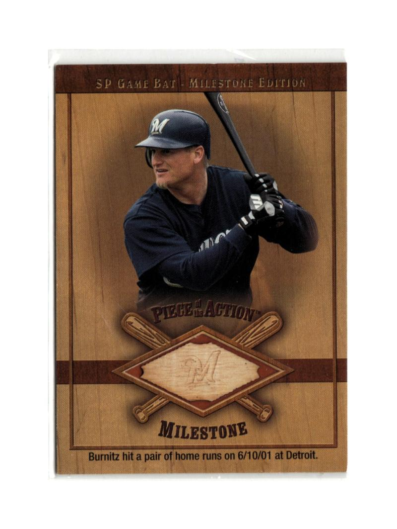 2001 SP Game Bat Milestone Piece of Action Milestone