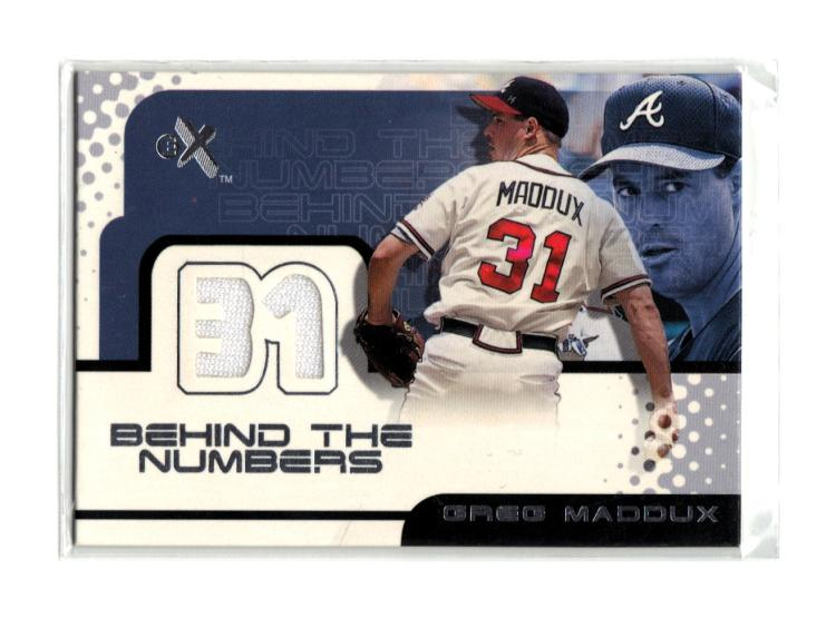 2001 Fleer E-X Behind the Numbers Game Jersey