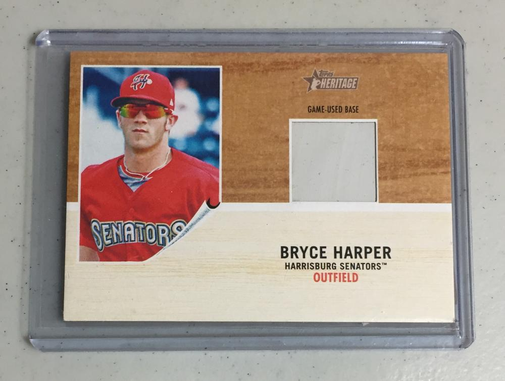 2011 Topps Heritage Minor League Bryce Harper Game Used Base