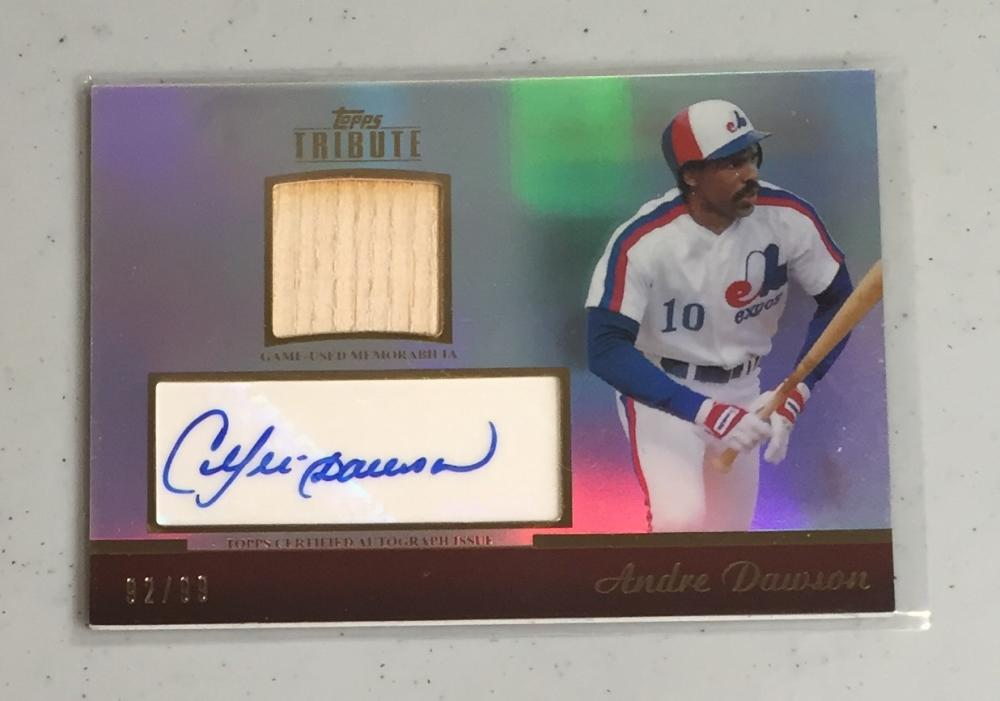 2011 Topps Tribute Autograph Relics