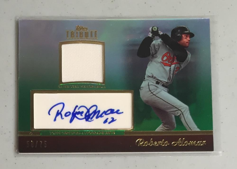2011 Topps Tribute Autograph Relics Green