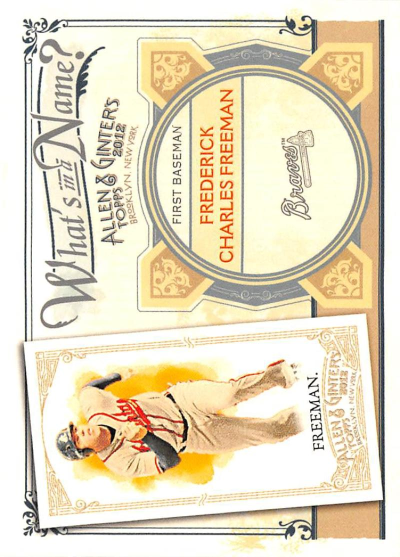 2012 Allen and Ginter  What's in a Name