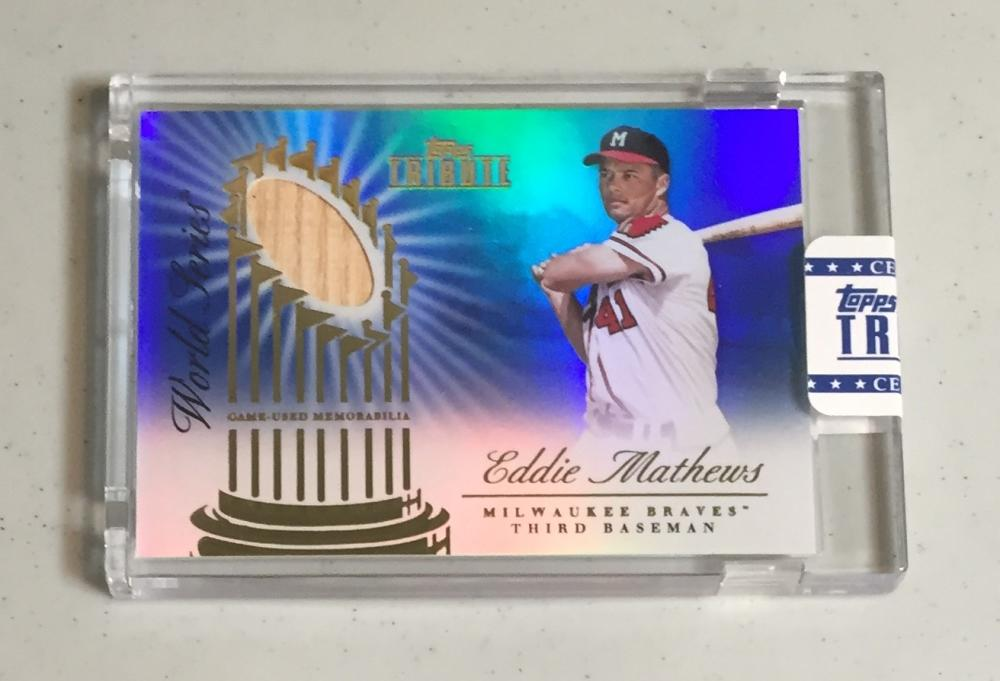 2012 Topps Tribute World Series Swatches Blue