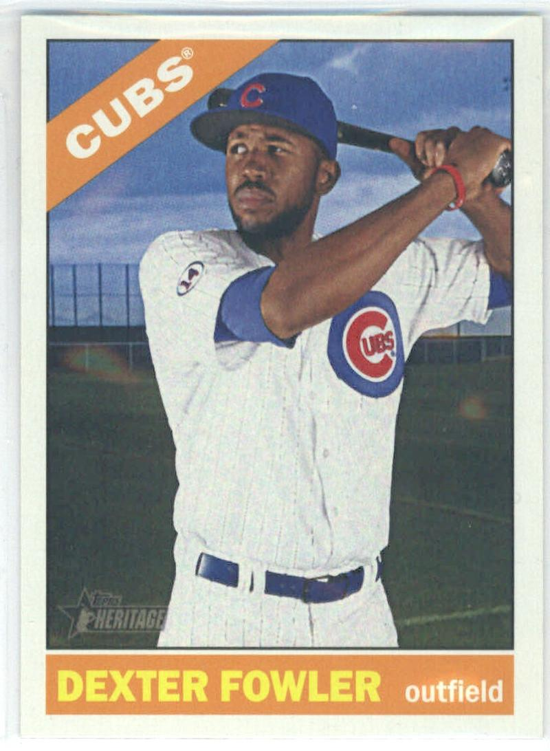 2015 Topps Heritage High Number #715 Dexter Fowler RC Rookie SP Chicago Cubs