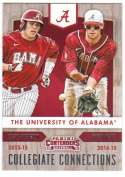 2015 Panini Contenders Collegiate Connections #18 Casey Hughston/Mikey White Alabama Crimson Tide