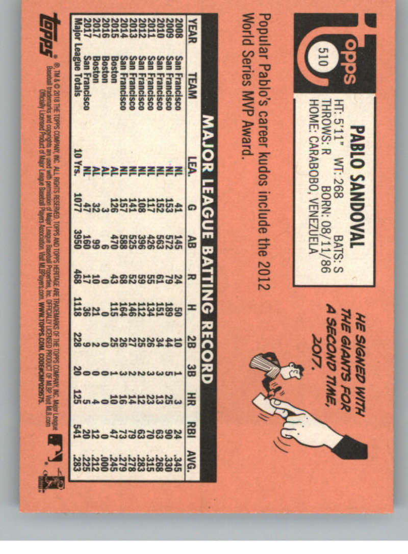 Pick Your Cards 2018 Topps Heritage High Baseball Base Singles #501-725