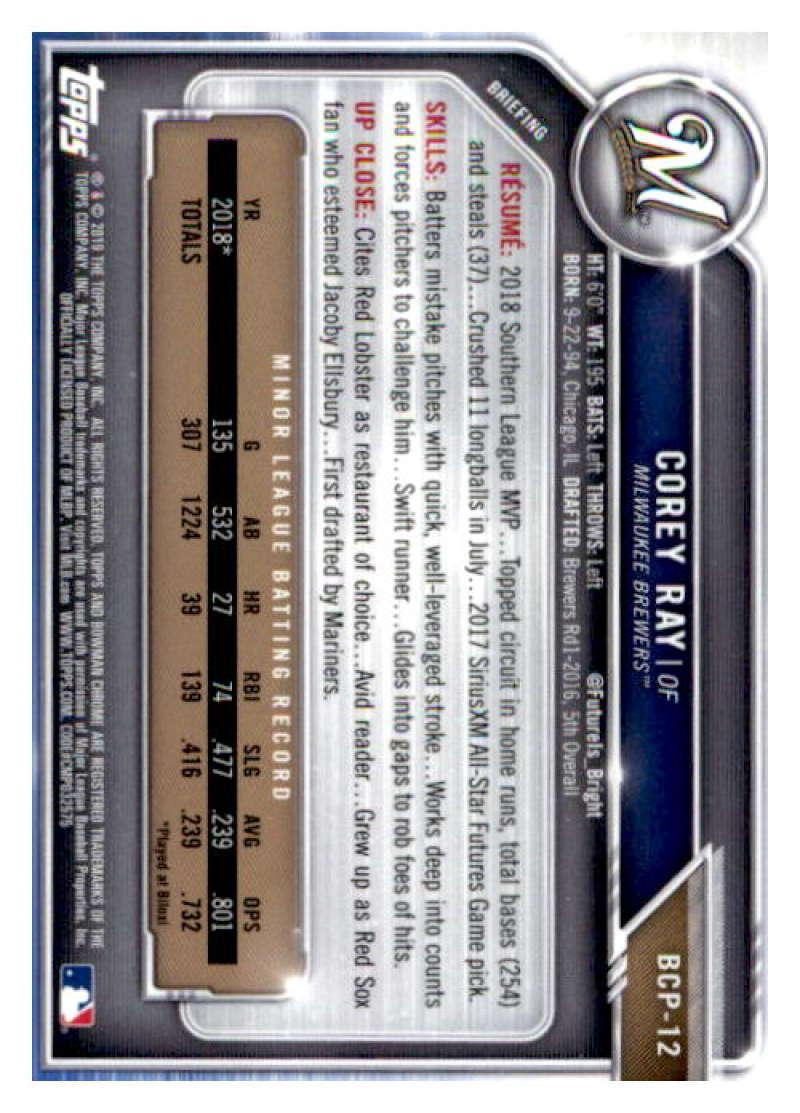 2019 Bowman Chrome Prospect Baseball Cards Pick From List BCP1-BCP150