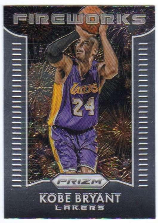 2015-16 Prizm Fireworks #10 Kobe Bryant  Lakers