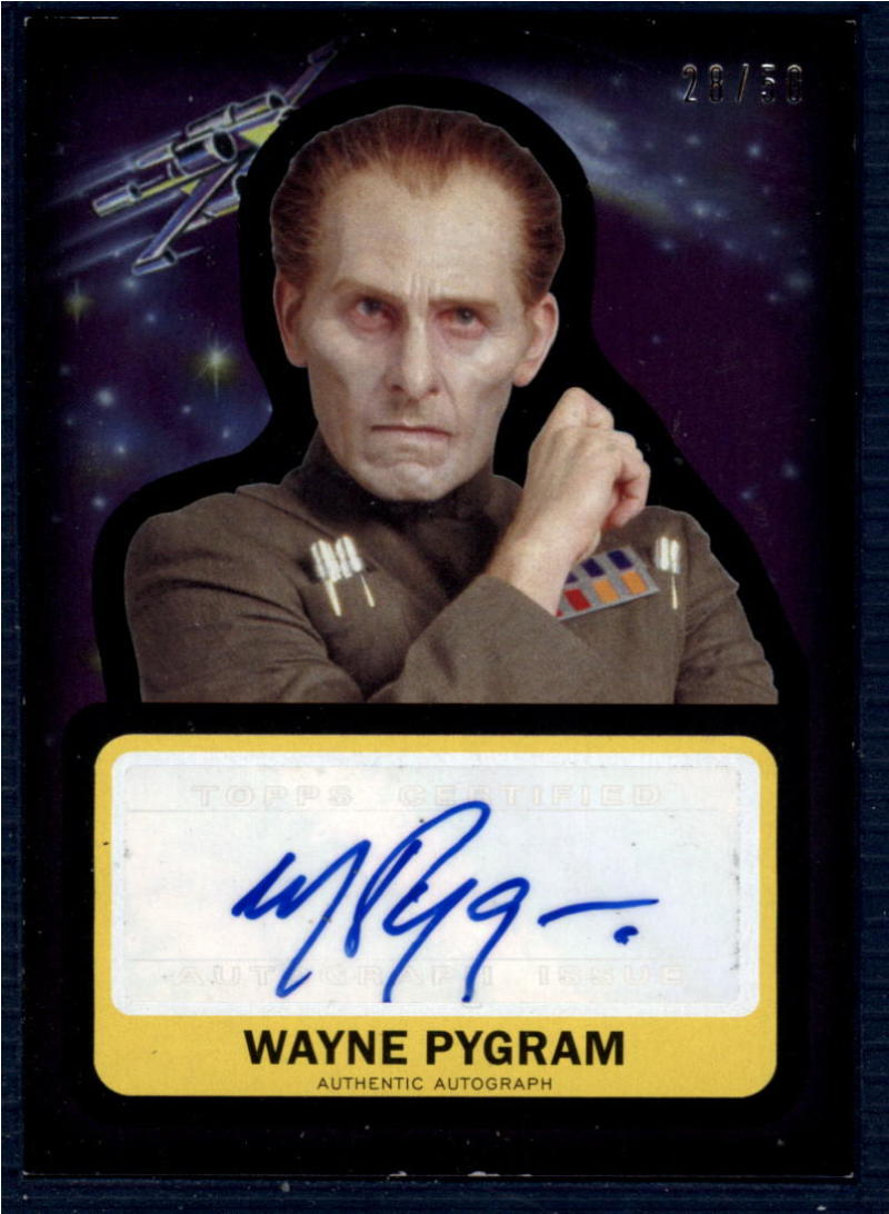 2015 Topps Star Wars Journey to the Force Awakens Autographs Silver