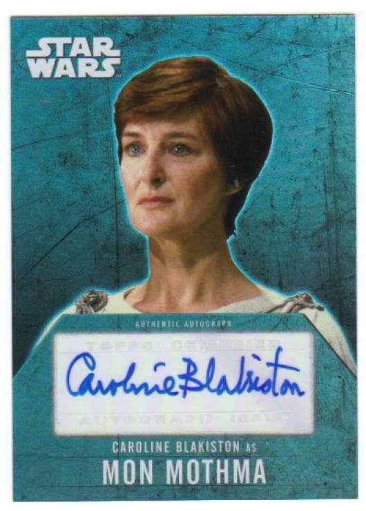 2016 Topps Star Wars Evolution Autographs