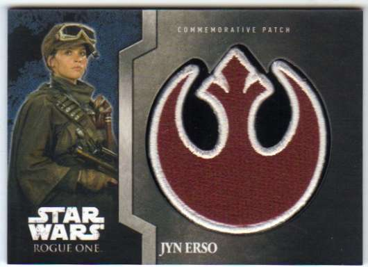 2016 Topps Star Wars Rogue One Mission Briefing Commemorative Patch Gray
