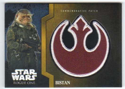 2016 Topps Star Wars Rogue One Mission Briefing Commemorative Patch Gold