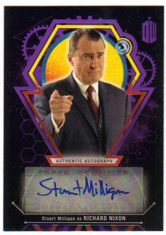 2016 Topps Doctor Who Exraterrestrial Encounters Autographs Purple