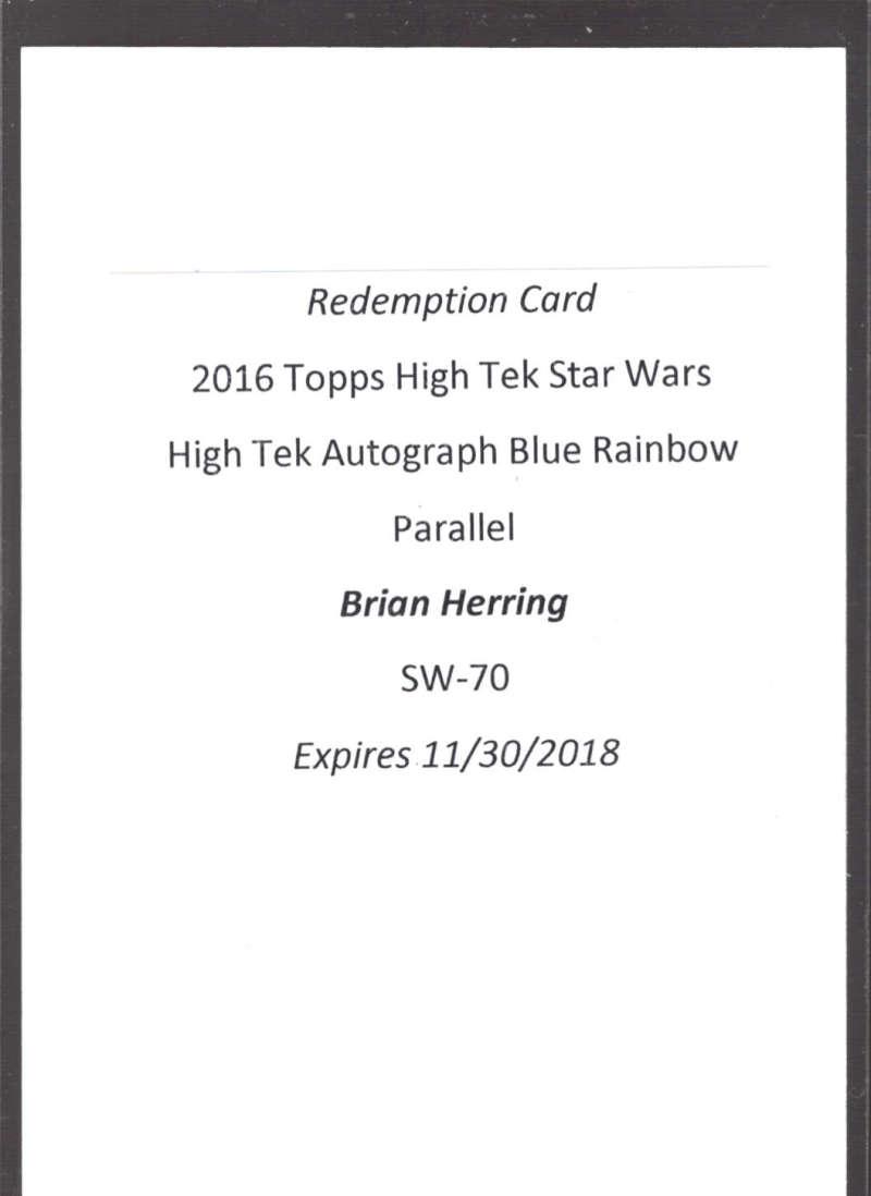 2016 Topps Star Wars High Tek Autographs Blue Rainbow