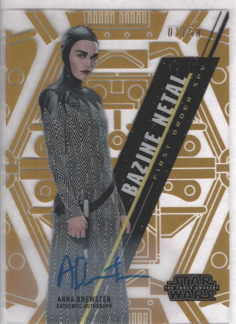2016 Topps Star Wars High Tek Autographs Gold Rainbow