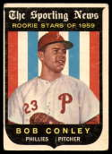 1959 Topps #121 Bob Conley RS Very Good Rookie Card