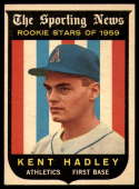 1959 Topps #127 Kent Hadley RS Very Good Rookie Card