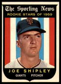 1959 Topps #141 Joe Shipley RS Very Good Rookie Card