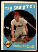 1959 Topps #197 Ray Semproch Excellent