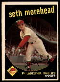 1959 Topps #253 Seth Morehead Very Good Rookie Card