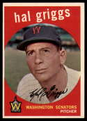 1959 Topps #434 Hal Griggs Very Good
