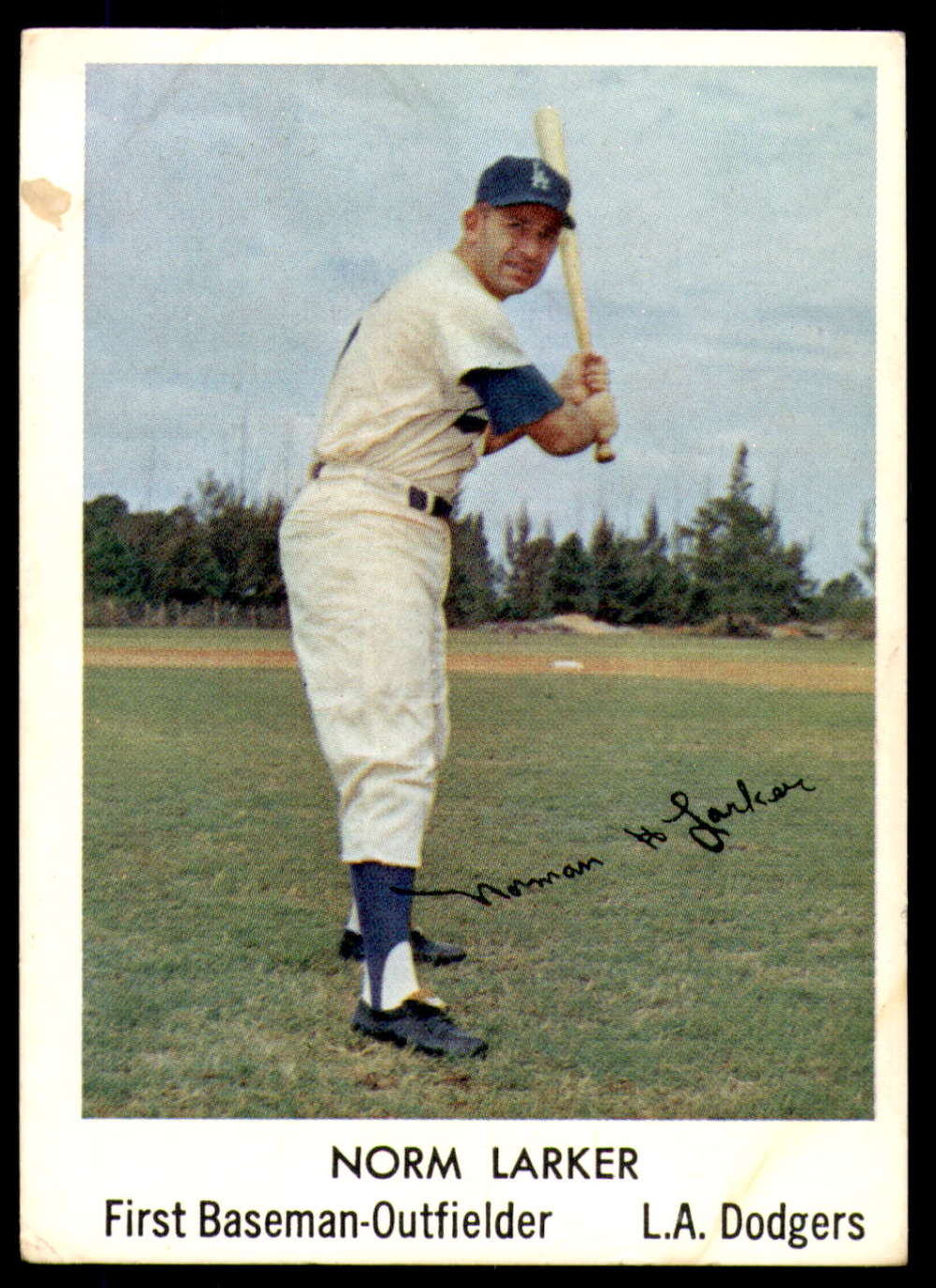 1960 Bell Brand Los Angeles Dodgers