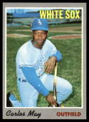 1970 Topps #18 Carlos May Nr. Mint / Off Center