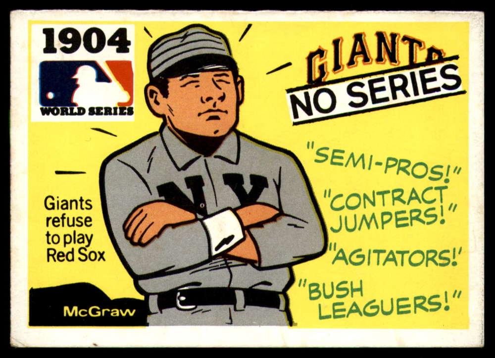 1971 Fleer Laughlin World Series Black Backs