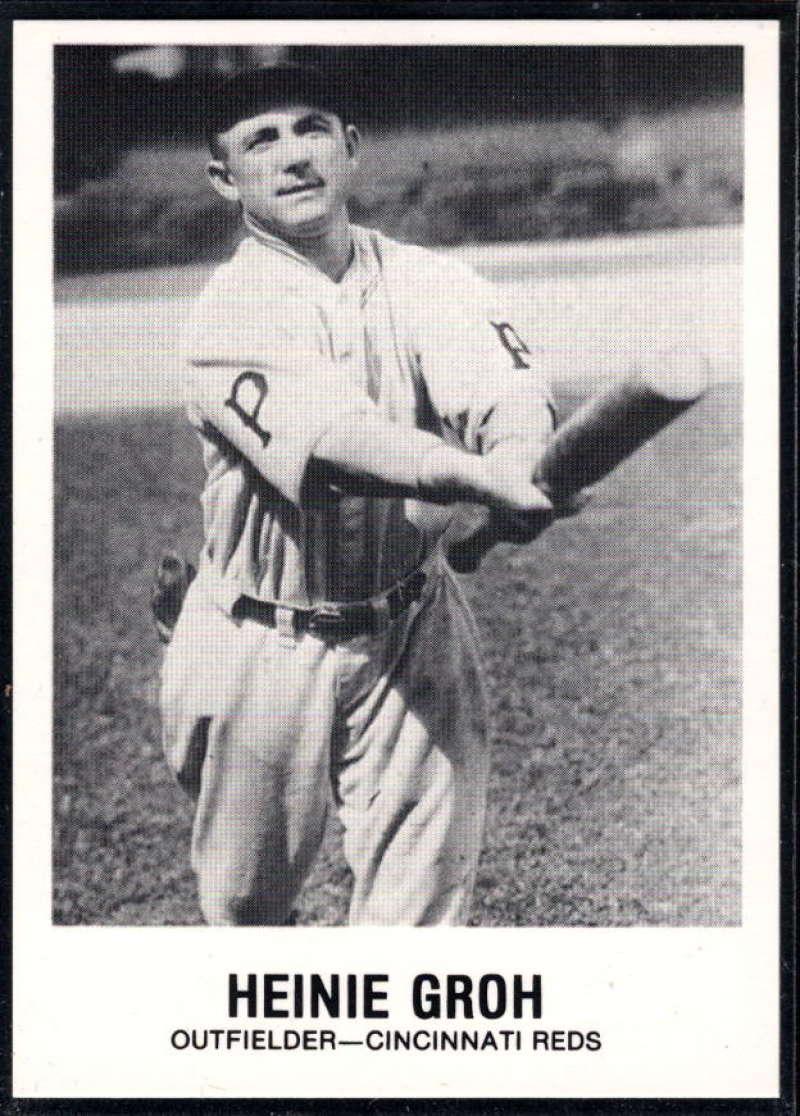 1977-84 Galasso Glossy Greats Baseball #139 Heinie Groh Cincinnati Reds  Copyright 1981 Renata Galasso Inc. Produced by TCMA