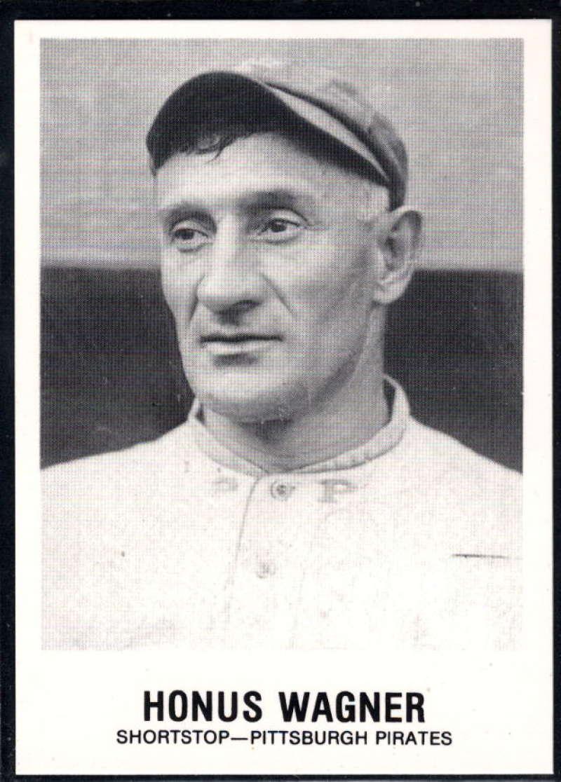 1977-84 Galasso Glossy Greats Baseball #148 Honus Wagner Pittsburgh Pirates  Copyright 1981 Renata Galasso Inc. Produced by TCMA