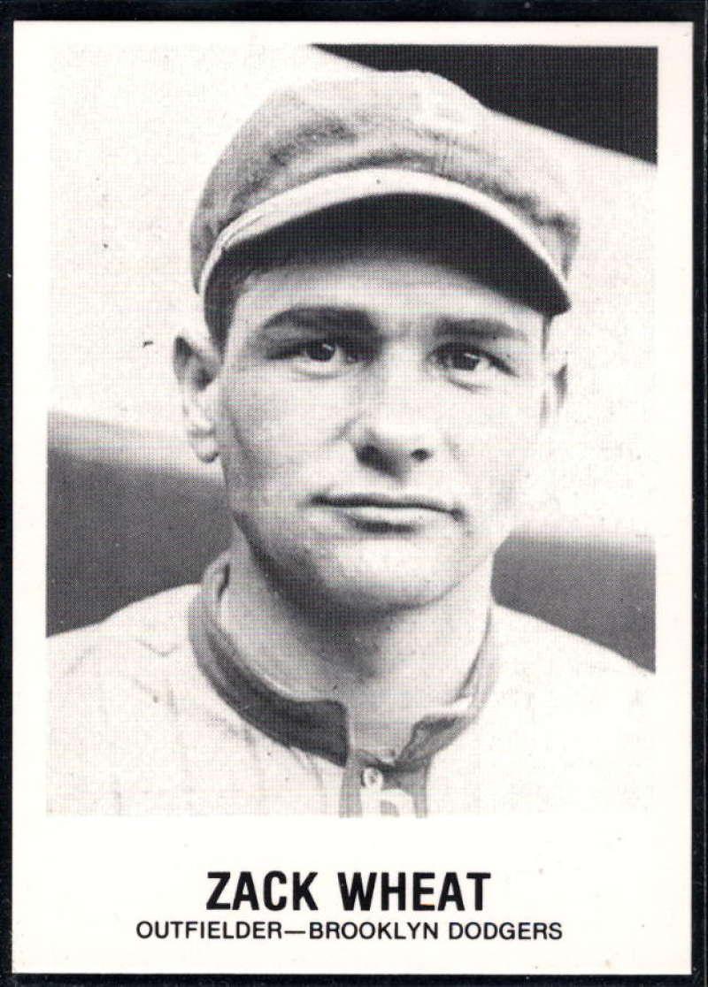 1977-84 Galasso Glossy Greats Baseball #151 Zack Wheat Brooklyn Dodgers  Copyright 1981 Renata Galasso Inc. Produced by TCMA