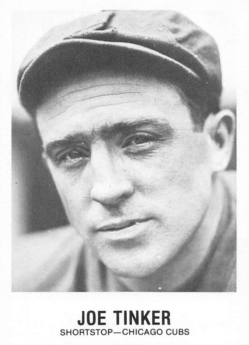 1977-84 Galasso Glossy Greats Baseball #160 Joe Tinker Chicago Cubs  Copyright 1981 Renata Galasso Inc. Produced by TCMA