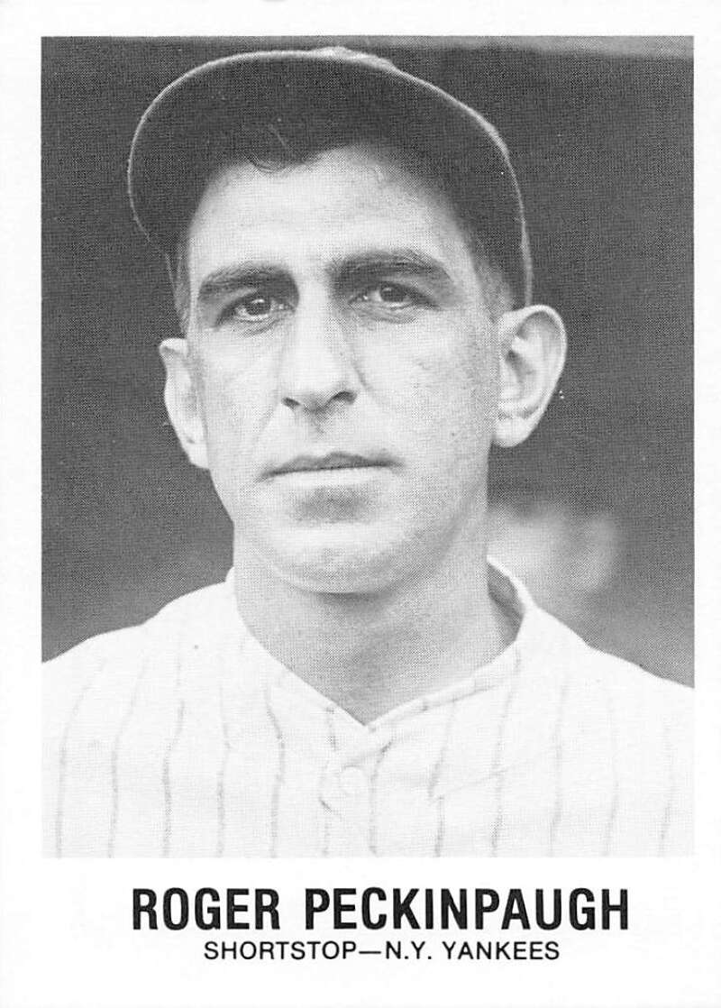 1977-84 Galasso Glossy Greats Baseball #163 Roger Peckinpaugh New York Yankees  Copyright 1981 Renata Galasso Inc. Produced by TCMA
