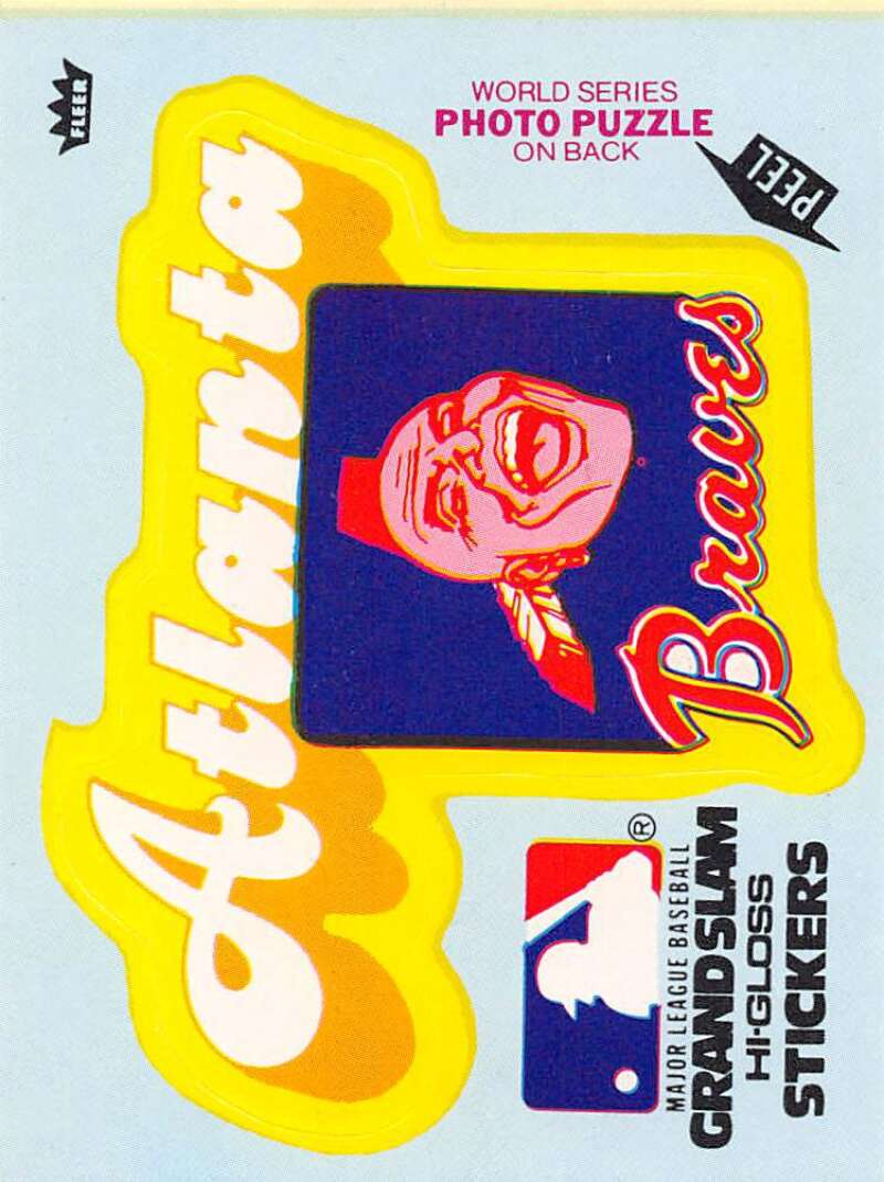 1979 Fleer Grand Slam Hi-Gloss Stickers