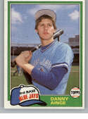 1981 Topps Traded #727 Danny Ainge RC Rookie Blue Jays