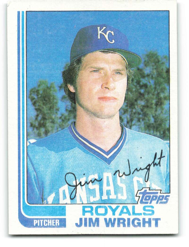 1982 Topps #362 Jim Wright Royals UER