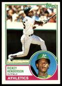 1983 Topps #180 Rickey Henderson 3000