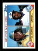 1983 Topps #704 Rickey Henderson/Tim Raines Stolen Base Leaders 3000