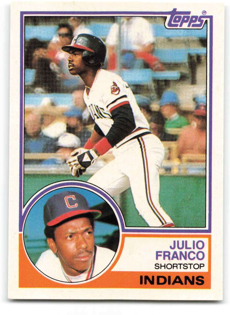 1983 Topps Traded Baseball #34T Julio Franco RC Rookie Card Cleveland Indians Official Update Trading Card From The Topp