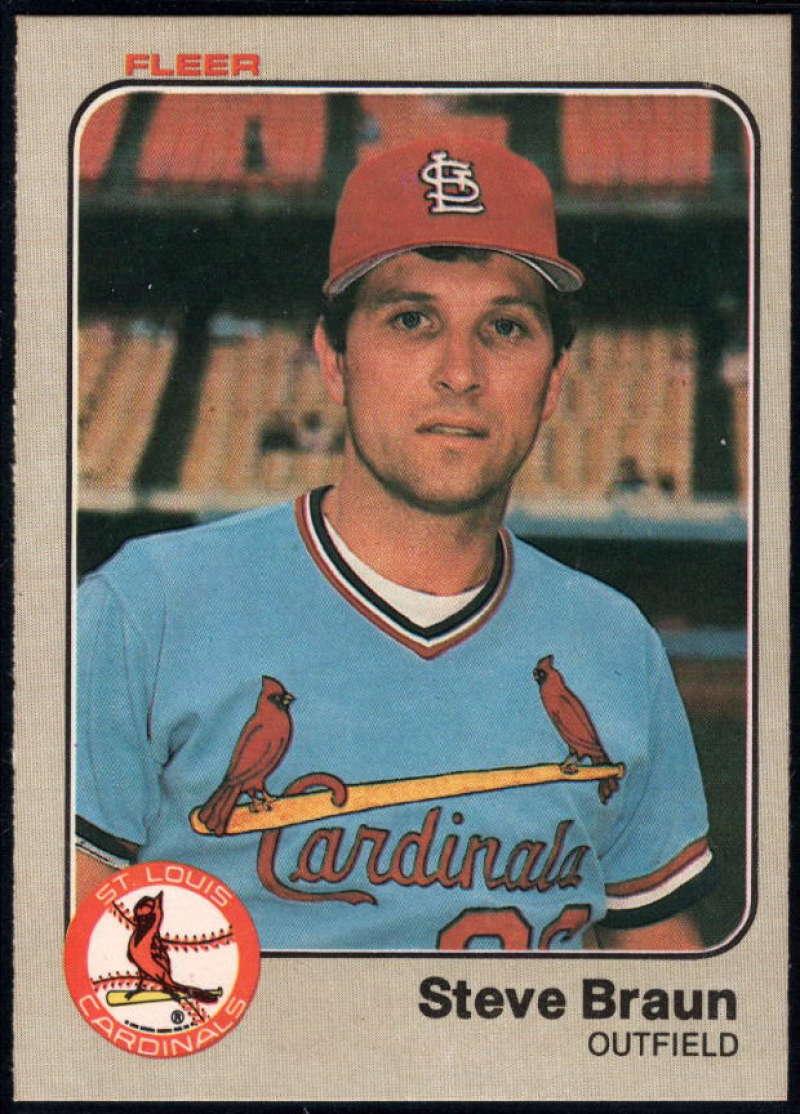 Baseball MLB 1983 Fleer #3 Steve Braun NM Near Mint Cardinals