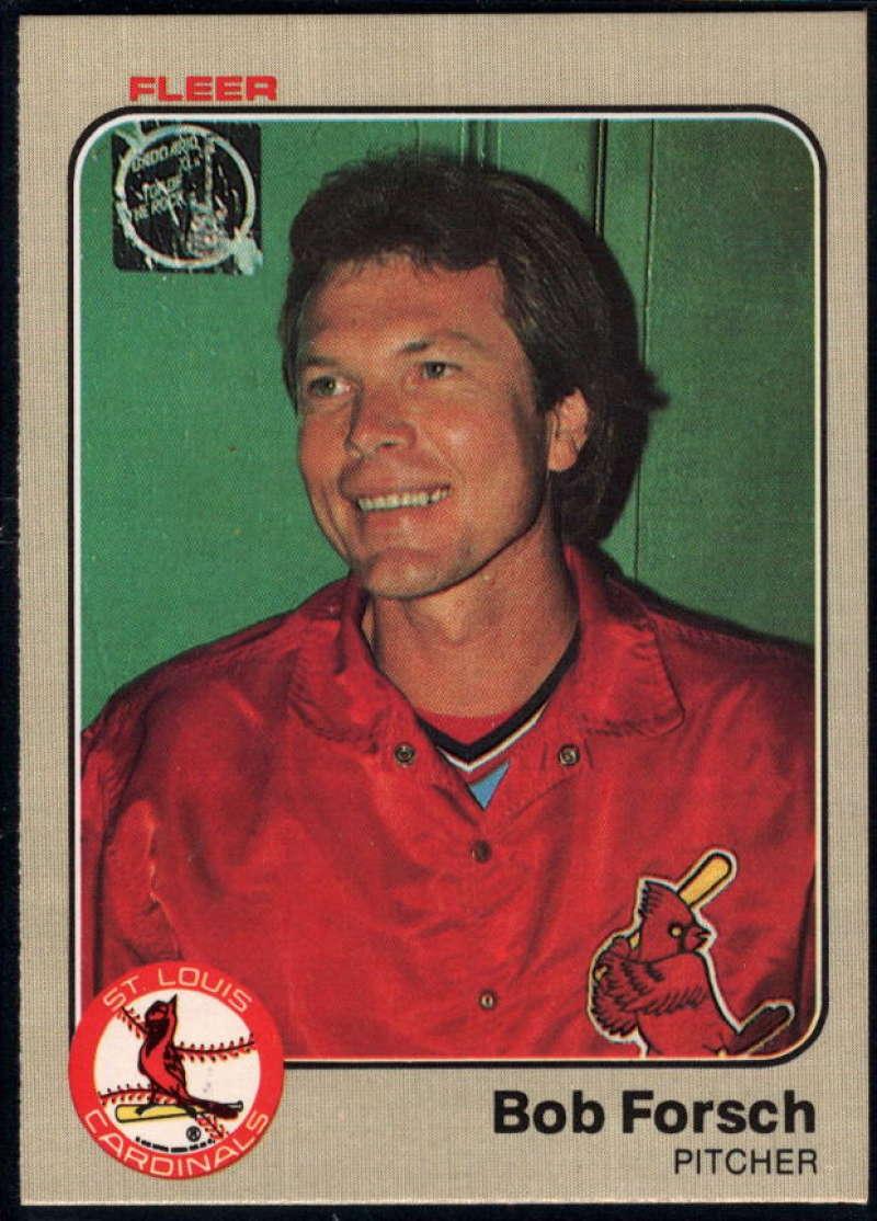 Baseball MLB 1983 Fleer #5 Bob Forsch NM Near Mint Cardinals