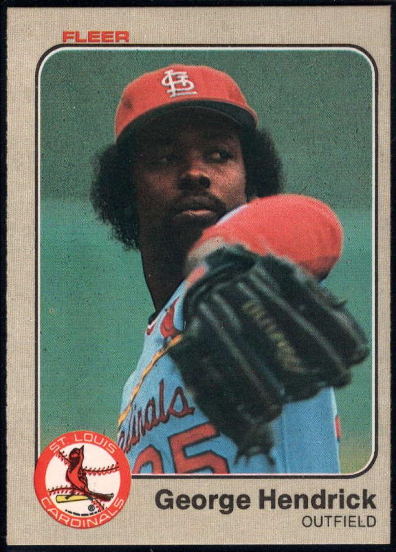 Baseball MLB 1983 Fleer #7 George Hendrick NM Near Mint Cardinals