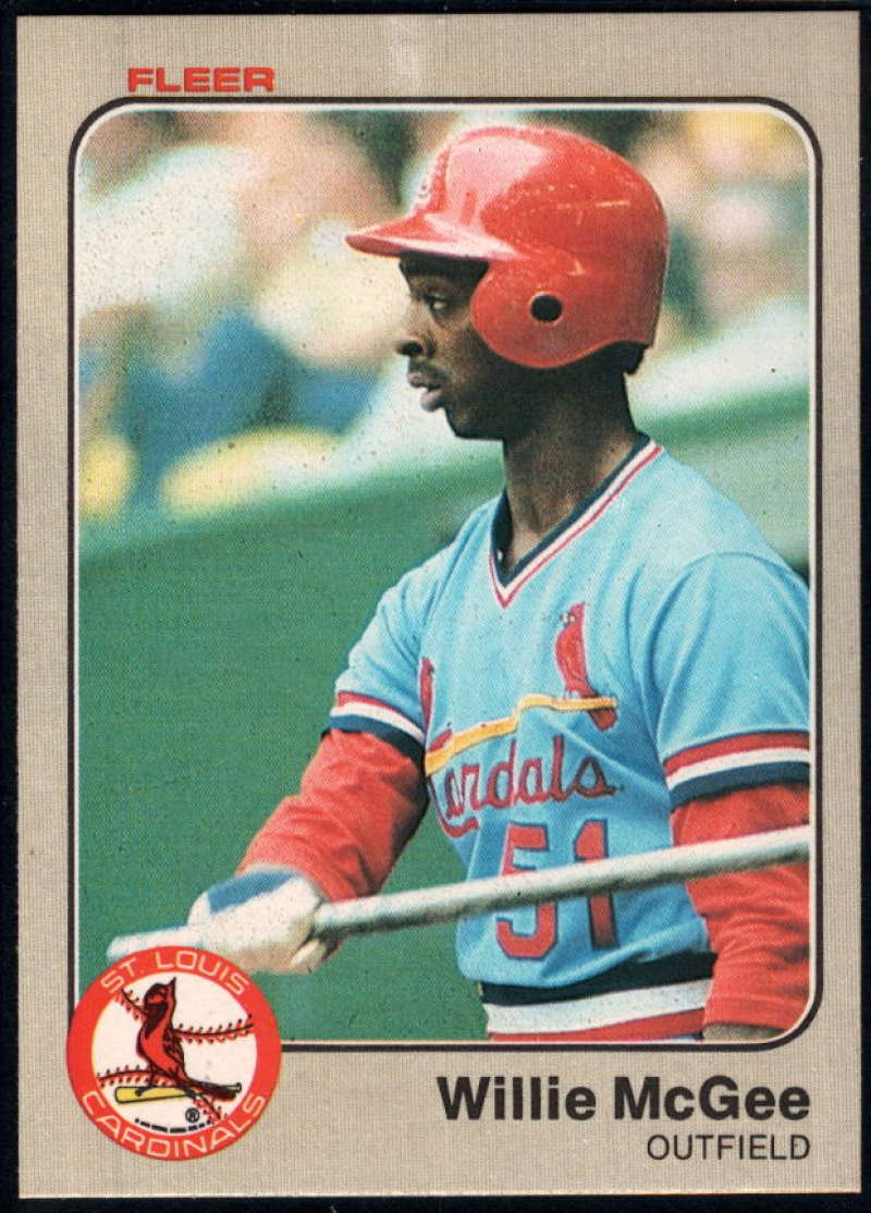 Baseball MLB 1983 Fleer #15 Willie McGee NM-MT Rookie Card Cardinals